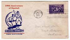 Baseball #855 FDC 1939 First Day Cover Mellone UNLISTED CACHET