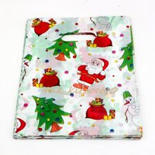 Jewelry Pouches.100pcs 20X25cm Christmas tree  Plastic Bags Jewelry Gift Bag