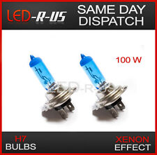 H7 100W XENON EFFECT LOOK SUPER BRIGHT WHITE BULBS 5000K X 2 / PAIR