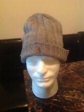 Ralph Lauren Polo Grey Winter Hat 80%lambs wool