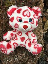"Build a Bear 8"" Valentine's Day Huggable Hearts Bear Plush Toy ~ New"