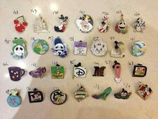 ~! 50 Mickey Disney Collectible Trading Pins Lot! 100% tradable HM LE CAST~!