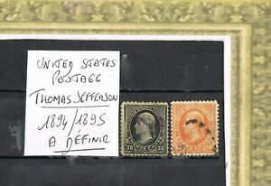 UNITED STATE THOMAS JEFFERSON +++ 2 TIMBRES+++CANAL ZONE++++