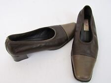 BOTTICELLI BROWN CAMEL LEATHER SHOES 39 9B LOW HEELS CLASSIC MADE IN ITALY