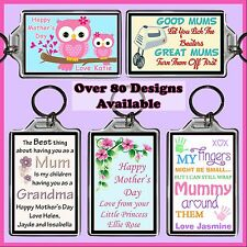 Personalised Mothers Day Key Ring - 7x5cm Keyring Chain, Gift - Photo / Msg, Mum