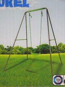 Metallschaukel 140 x 180 x 140 cm Kinderschaukel Schaukel Gartenschaukel Einzel