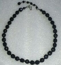 Beautiful Black Crystal Necklace