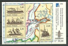 FINLAND - SHIPS Trade Routes Map M/S 1986 MNH