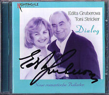 Edita GRUBEROVA Signed DIALOG Toni STRICKER Unsere Melodie Sommer Nightingale CD