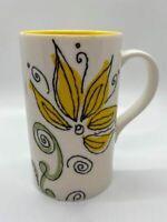 Starbucks - 2006 - White Coffee Mug with Yellow Flower - 12 oz