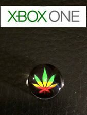 Xbox one  controller guide button Rasta leaf custom (Read description )