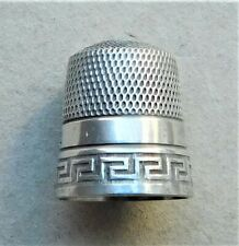 NO RESERV c1920 American Simons Brothers Sterling Silver Thimble Vintage Antique