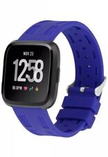 Fitbit VERSA Strap Blue Classic Sports Watch Adjustable Replacement Wristband