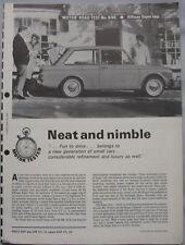 1966 Hillman Super Imp Original Motor magazine Road test