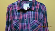 AEROPOSTALE Long Sleeve Alexa Plaid woven shirt- new, XXL