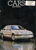 Ford Cars Motorshow 1985 UK Brochure Fiesta Escort Orion Sierra Capri Granada