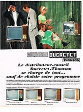 PUBLICITE ADVERTISING  1965    DUCRETET THOMSON  multiviseur  téléviseur