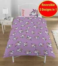 Nuevo Diseño Unicornio emoji Cubierta Del Edredón Edredón Juego Niñas Niños Rosa Púrpura Dormitorio