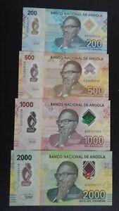 Angola 2000 + 1000 + 500 + 200 Kz - 2020 Serie Kwanza - UNC Polymer Note