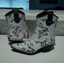 Corkys pink Rubber Rodeo lined Western Waterproof Rain Boot xl 3-4 women 5