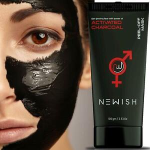 Activated Charcoal Peel-off Mask Glowing Skin Blackhead Remover for Men 100 gm