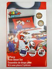 Super Mario Twin Sheet Set:   3 Piece | Kids Bedding Set (SH31-09)