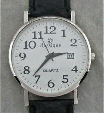 Classique Herrenarmbanduhr,Datumsanzeige,schwarzes Kunststoffband