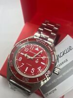 Vostok Komandirskie 650840 Watch Automatic Russian Wrist Watch Red New