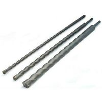 3 Pce - SDS+ DRILL BITS SET 12 16 24mm x 600mm LONG MASONRY CONCRETE BLOCK