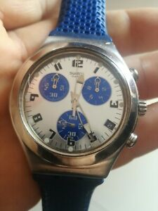 Swatch Irony stainless steel cronograph Swiss Made