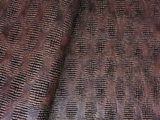 Expanded Vinyl Upholstery Fabric Raised Textured Baby Crocodile Skin - Maroon