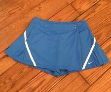Nike Fit-Dry Pleated Tennis Golf Skirt Skort Blue Turquoise SZ 10 Pockets