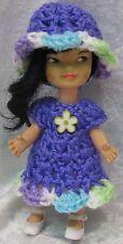 HEIDI and JAN Remco Doll Clothes #10 Handmade Crochet Dress & Hat Set