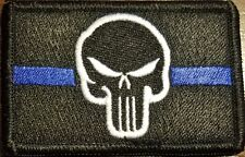The Punisher Patch W/ VELCRO® Brand Fastener Tactical Morale Thin Blue Line #5