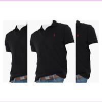 $90 Polo Ralph Lauren Men's Classic-Fit Short Sleeve Mesh Polo, Black, Size L.