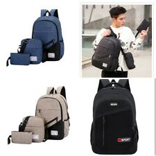 Unisex Boys Girls School Large Backpack Travel Rucksack Shoulder Laptop Bag