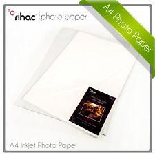 Rihac A4 Premium Lustre Gloss Inkjet Photo Paper 190gsm 20 sheets Glossy