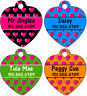 Colorful Hearts Pet Id Tag for Dogs & Cats Personalized w/ Name & Number