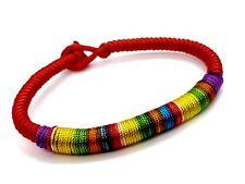 LGBT Pride Rope Bracelet Wristband UK Seller UK stock