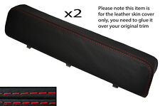 RED STITCH 2X DOOR ARMREST LEATHER COVER FITS ALFA ROMEO GTV SPIDER 916 95-05