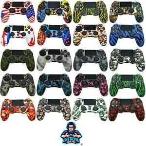 EGP™ Lux Case Grips Silicone Rubber Cover Protective Skin for PS4 Controller