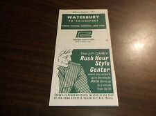 AUGUST 1971 PENN CENTRAL WATERBURY, CT OFFICIAL TIME TABLE