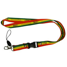 Ethiopia Country Flag Lion Of Judah Lanyard Keychain Passholder . New
