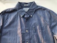 Abercrombie & Fitch Blue & White Pattern Mens Long Sleeve Button Down Size XL