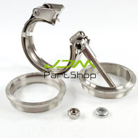 "3.0"" Quick Release V Band Clamp Kit 76mm Turbo Exhaust Downpipe Stainless Steel"