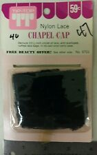 Vintage Chapel Cap !Nylon Lace! With carry case! Unique old hard to find Item!