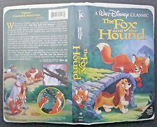 VHS tape black diamond classic THE FOX AND THE HOUND model 2041