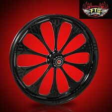 "Harley Davidson 21"" inch Black Front Wheel ""Warlock"" by FTD Customs"