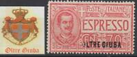 "ITALY OLTRE GIUBA Sass Exp 1 cv 500$  MNH**VARIETY ""O"" almost missed CENTERED"