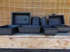 9 (Nine) New Heavy Duty Plastic Bonsai Training Pots for Bonsai Trees